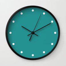 Dots Turquoise Wall Clock