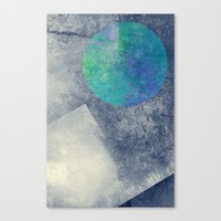 the moon Canvas Prints featuring moon by Claudia Drossert
