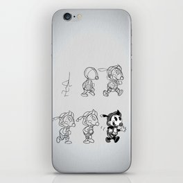 Cartoon Character Step by Step iPhone Skin