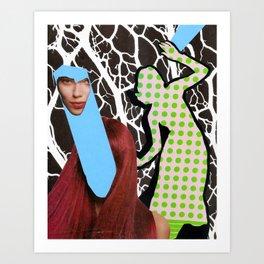 Schizo-Neural Brain Storm Art Print