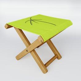 Palm Tree Illustration Neon Green Folding Stool