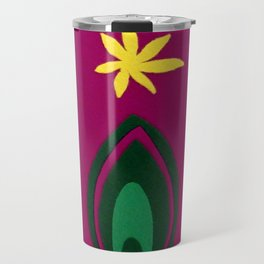 de Flower [fuchsia] Travel Mug