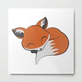 Little Red Fox Metal Print