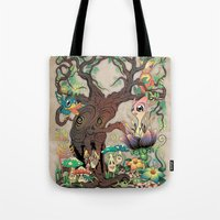 jungle Tote Bags featuring JUNGLE by GEEKY CREATOR