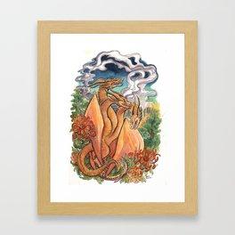 Three Headed Chrysanthemum Dragon Framed Art Print