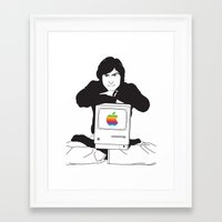 steve jobs Framed Art Prints featuring steve jobs by manish mansinh
