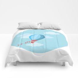 aerostat digital art Comforters