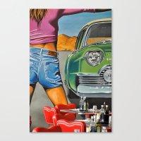 rock n roll Canvas Prints featuring Rock n Roll 2 by Jan Helge