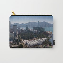 Panoramic aerial View of Kowloon, Hong Kong Carry-All Pouch