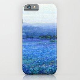 Bluebonnet Panoramic Landscape in Twilight painting by Robert Julian Onderdonk iPhone Case