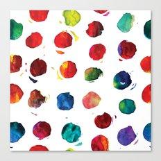 Abstract watercolor circles Canvas Print
