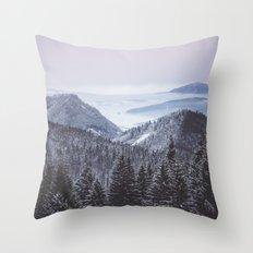 Mountain love Throw Pillow