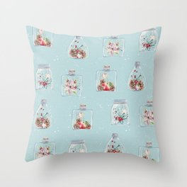 Christmas Pattern Mint Throw Pillow