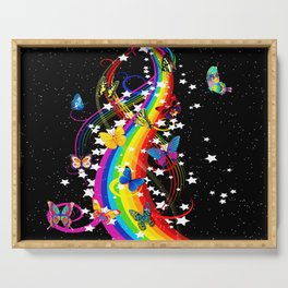 Butterfly Rainbow Serving Tray