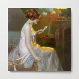 The Letter (Fool in Love) by Delphin Enjolras Metal Print