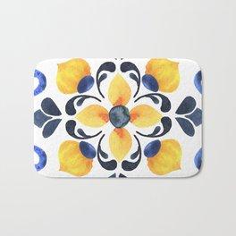 Floral ornament. Watercolor Bath Mat