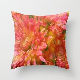 Glowing Chrysanthemums Throw Pillow