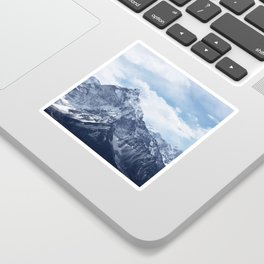 Snowy Mountain Peaks Sticker