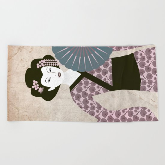 Geisha Beach Towel