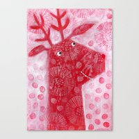 reindeer Canvas Prints featuring Reindeer by Nic Squirrell