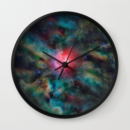 Cloud Complex in Space Wall Clock