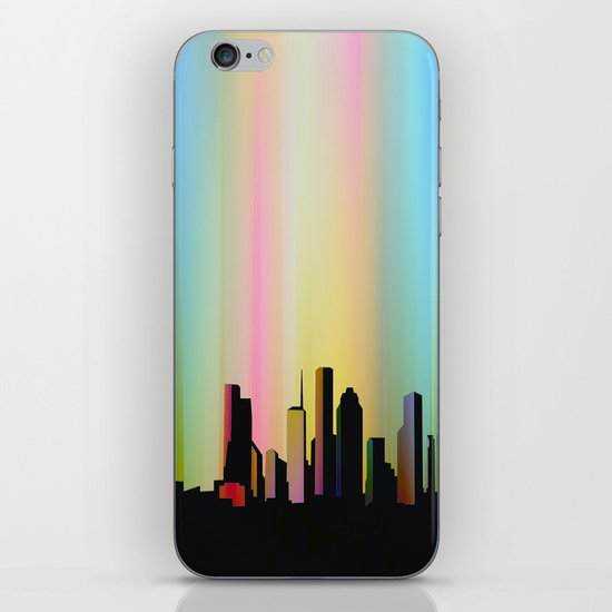 Cityscape through the veil iPhone & iPod Skin