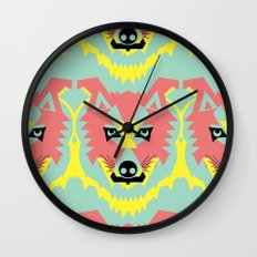 The Pack of Modular Wolves Wall Clock