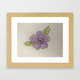 Een bloem voor myn bloem Framed Art Print
