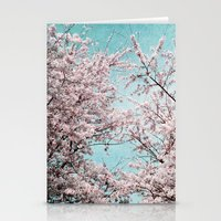 sakura Stationery Cards featuring Sakura by Iris Lehnhardt