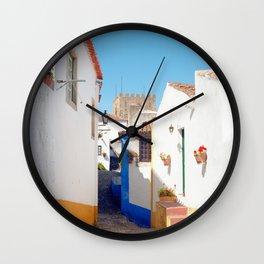 Portugal, Obidos (RR 184) Analog 6x6 odak Ektar 100 Wall Clock