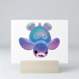 Sea turtle - bright Mini Art Print