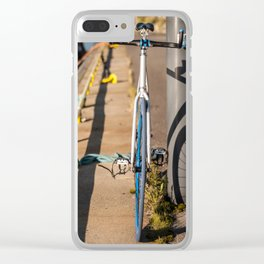 Bike on Harbor 4 Clear iPhone Case