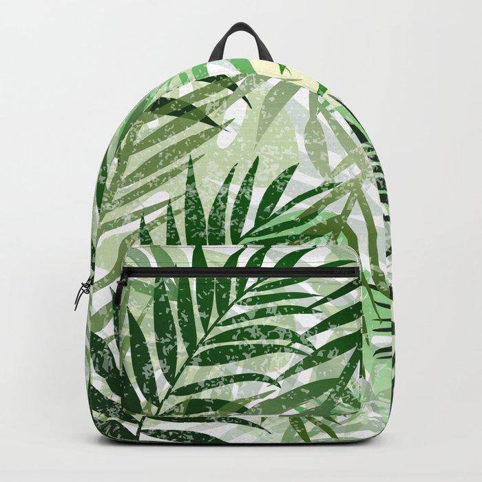 Tropical Green leaves Backpack
