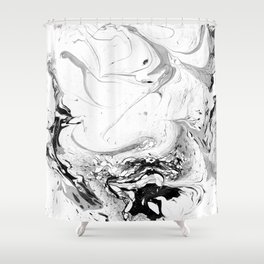 // MARBLED WHITE // Shower Curtain