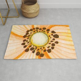 One Orange Flower Rug