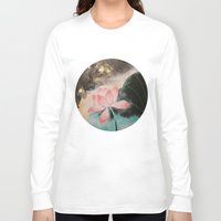 lotus Long Sleeve T-shirts featuring Lotus by Priscilla Moore
