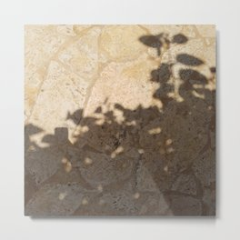 pool floor tree floral leaves shadow 2 Metal Print