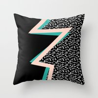 memphis Throw Pillows featuring memphis by jmdphoto