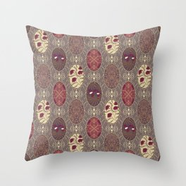 Patchwork seamless floral abstract pattern texture background Throw Pillow