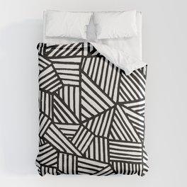 Black Brushstrokes Duvet Cover