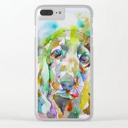 COCKER - watercolor portrait Clear iPhone Case