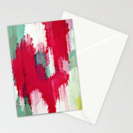red green and yellow painting texture abstract background Stationery Cards