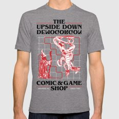 The Upside Down Demogorgon - Stranger Things Have Happened Mens Fitted Tee LARGE Tri-Grey
