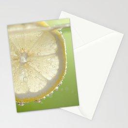 Bubbly Lemon - Lime Green Stationery Cards
