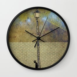 Light Post Wall Clock