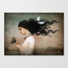 she likes the night Canvas Print
