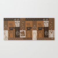 fat Canvas Prints featuring Fat Fat Cafe by Astrobunny
