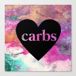 carb love fluid painting. Canvas Print