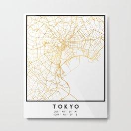 TOKYO JAPAN CITY STREET MAP ART Metal Print
