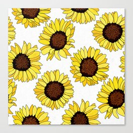 Sunflowers are the New Roses! - White Canvas Print